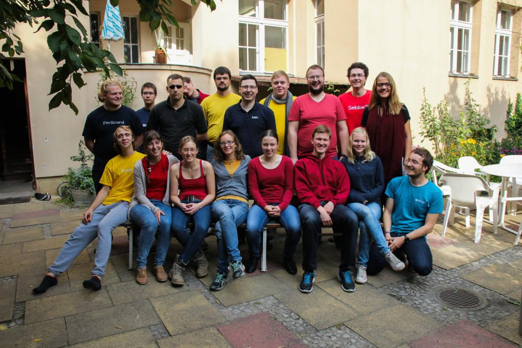 Das Org-Team des JMC 2016 beim Auftakt-Treffen im Oktober 2015